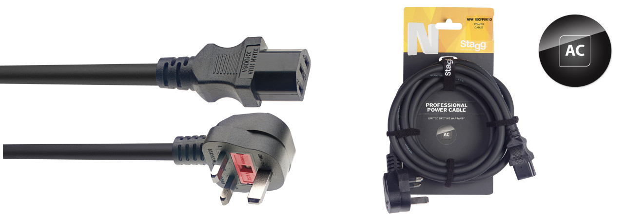N-Series IEC F - UK 13A M Power Cable