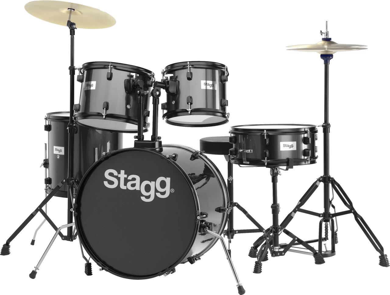 """5-teiliges, 20"""" Standard Linden Schlagzeug m. Hardware u. Becken"""