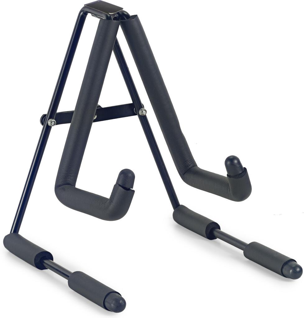 Foldable stand for ukulele, mandolin or violin