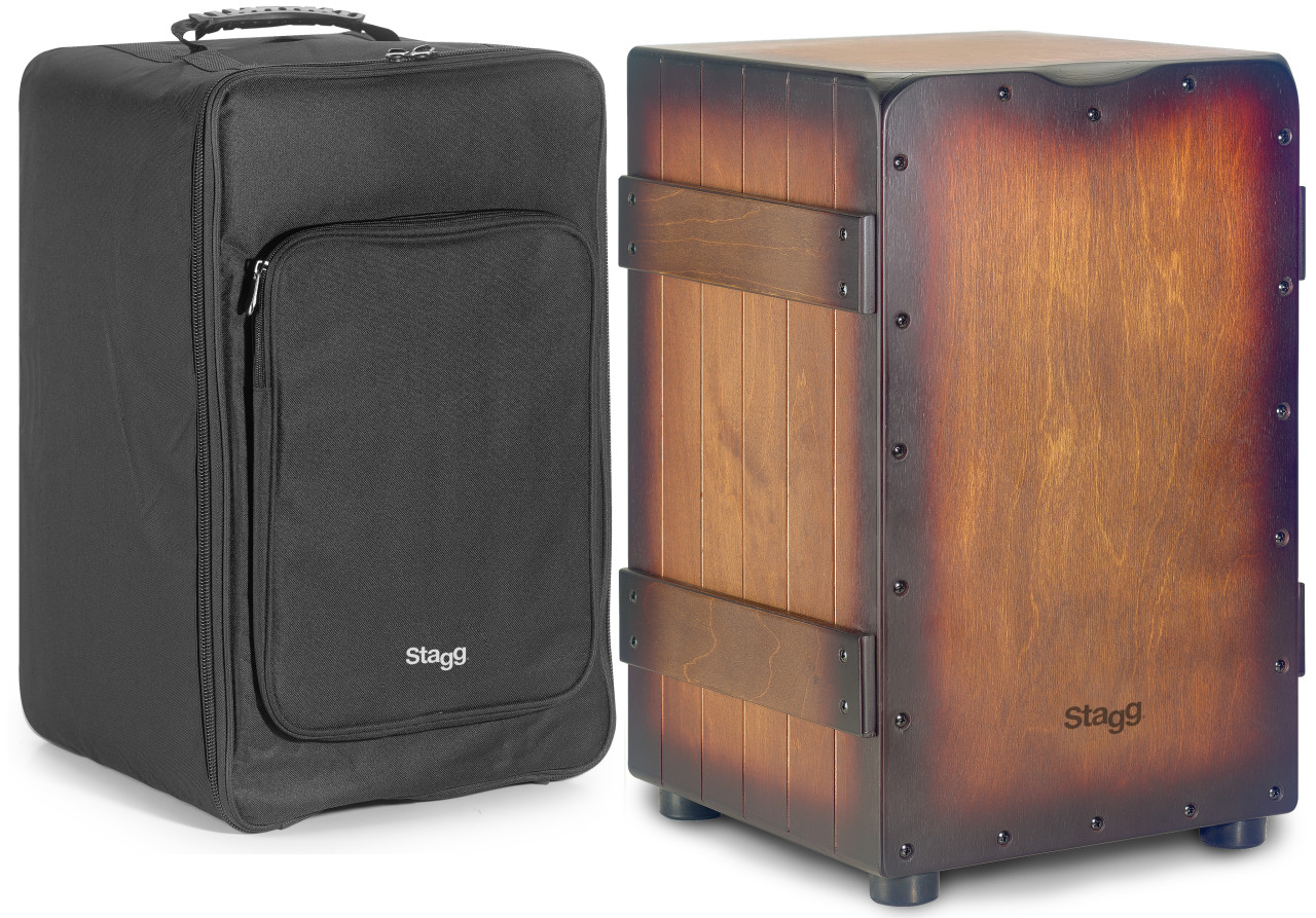 Standard-sized Crate cajón with sunburst brown finish