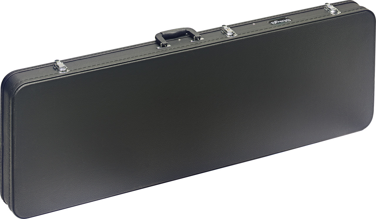 Basic series hardshell case for electric bass guitar, square-shaped model