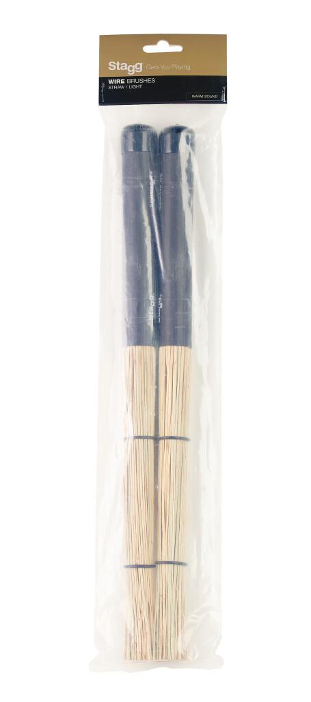 Balais multibrins en paille, avec revêtement du manche en caoutchouc noir