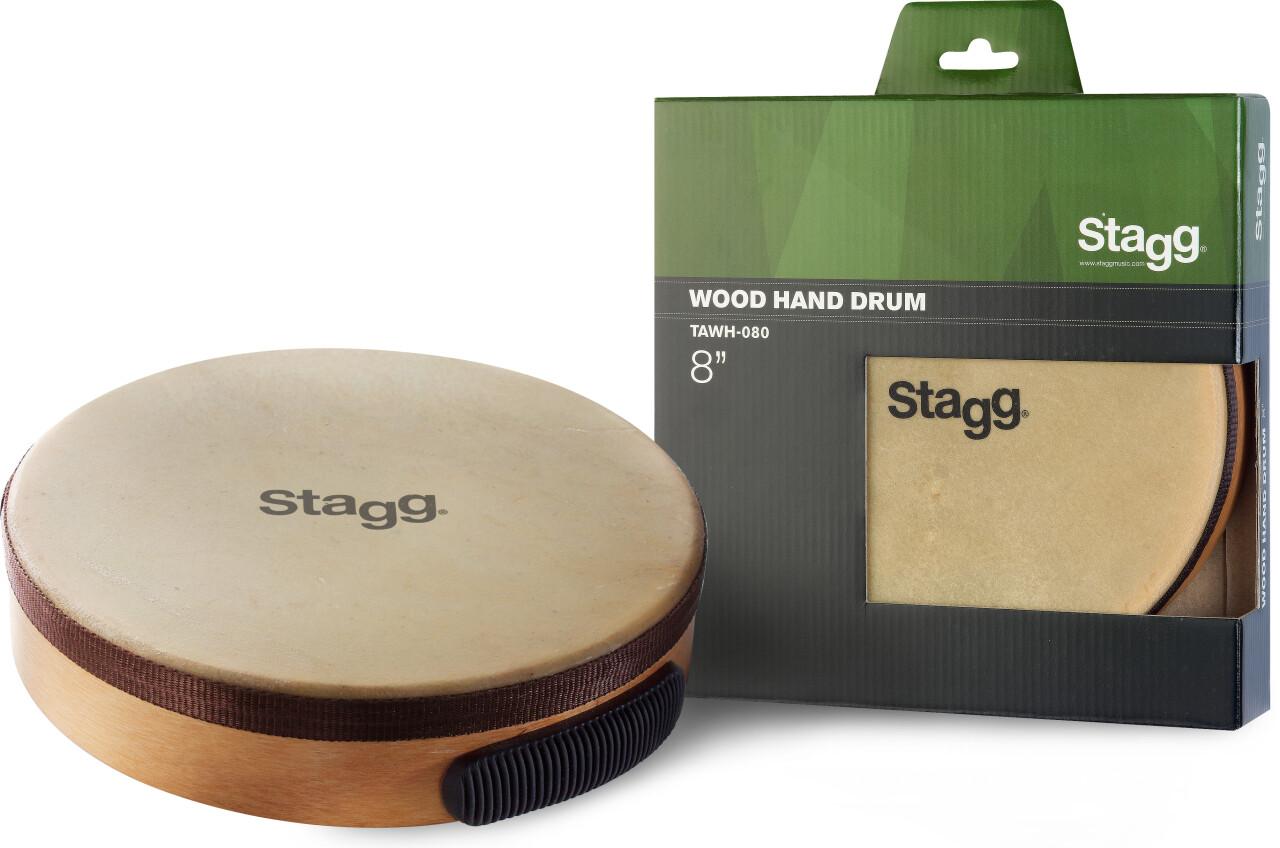 "8"" pre-tuned wooden hand drum"