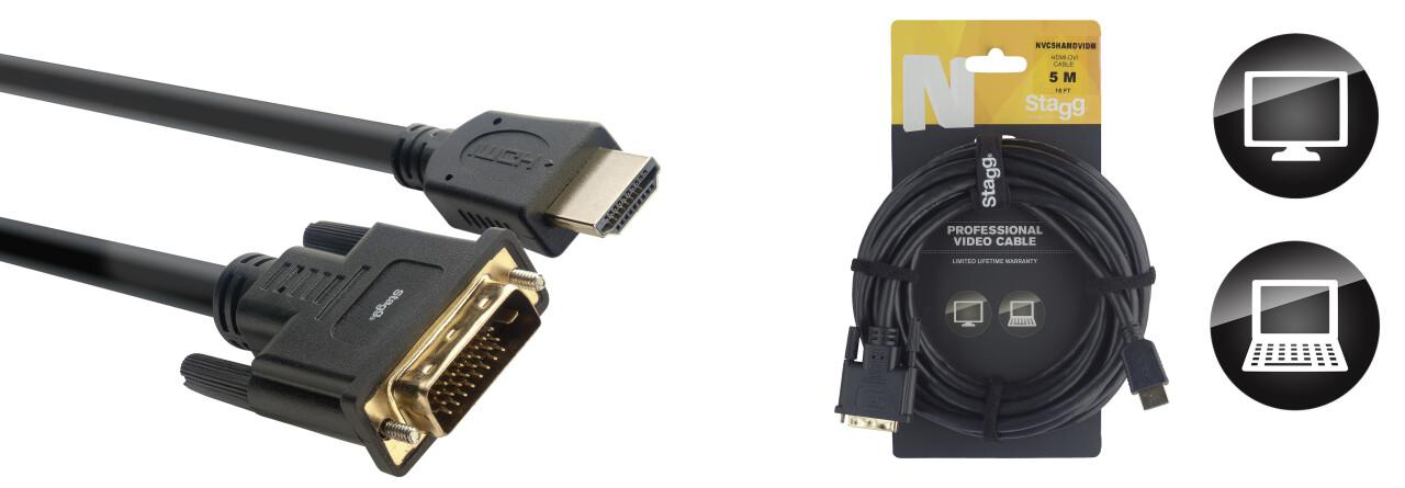 Câble Vidéo, série N - HDMI 1.4 / DVI Dual Link