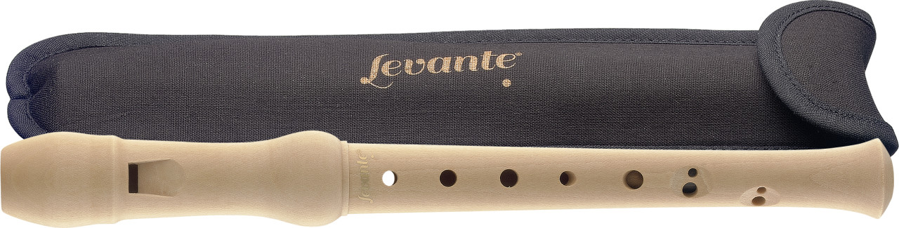 Maple sopranino recorder with baroque fingering