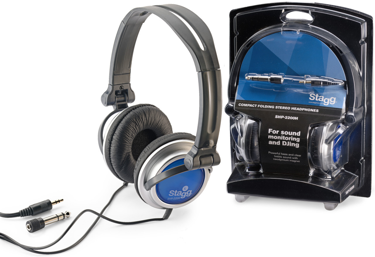 Compact folding, dynamic stereo headphones for Sound Monitoring and
