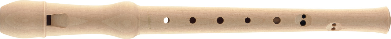 Maple soprano recorder with baroque fingering