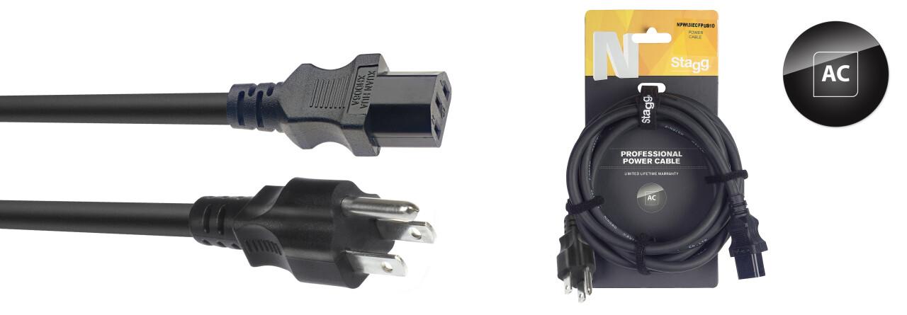 N-Serie IEC F - US NEMA 5-15P M Stroomkabel