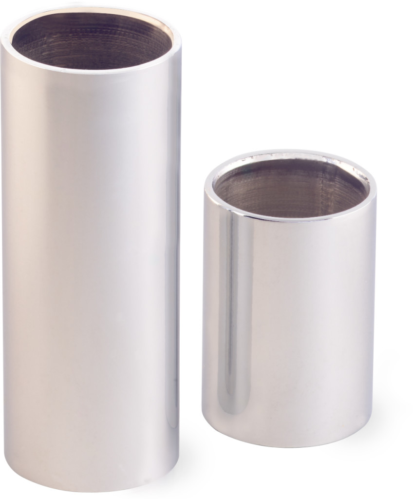 Chromed steel slide set - small
