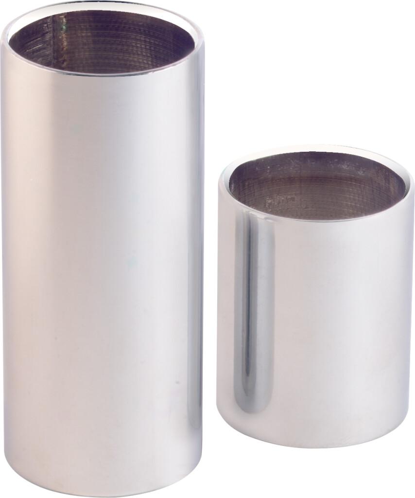 Chromed steel slide set - medium