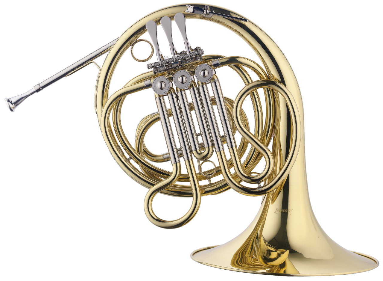 F/Eb Junior Horn, 3 rotary valves, leadpipe in gold brass