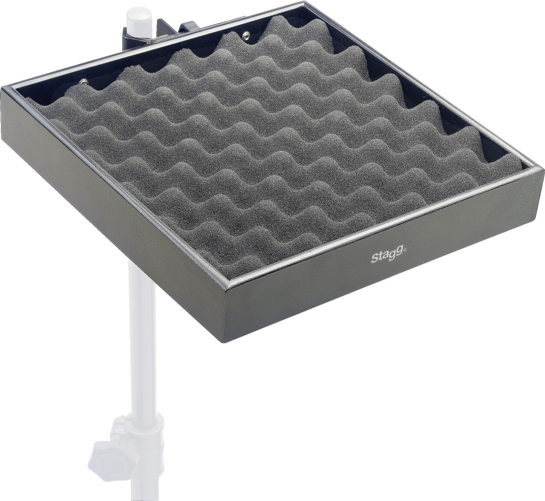 Percussion tray with clamp for stand