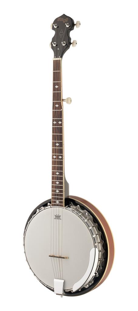 5-string Bluegrass Banjo Deluxe with metal pot, left-handed model