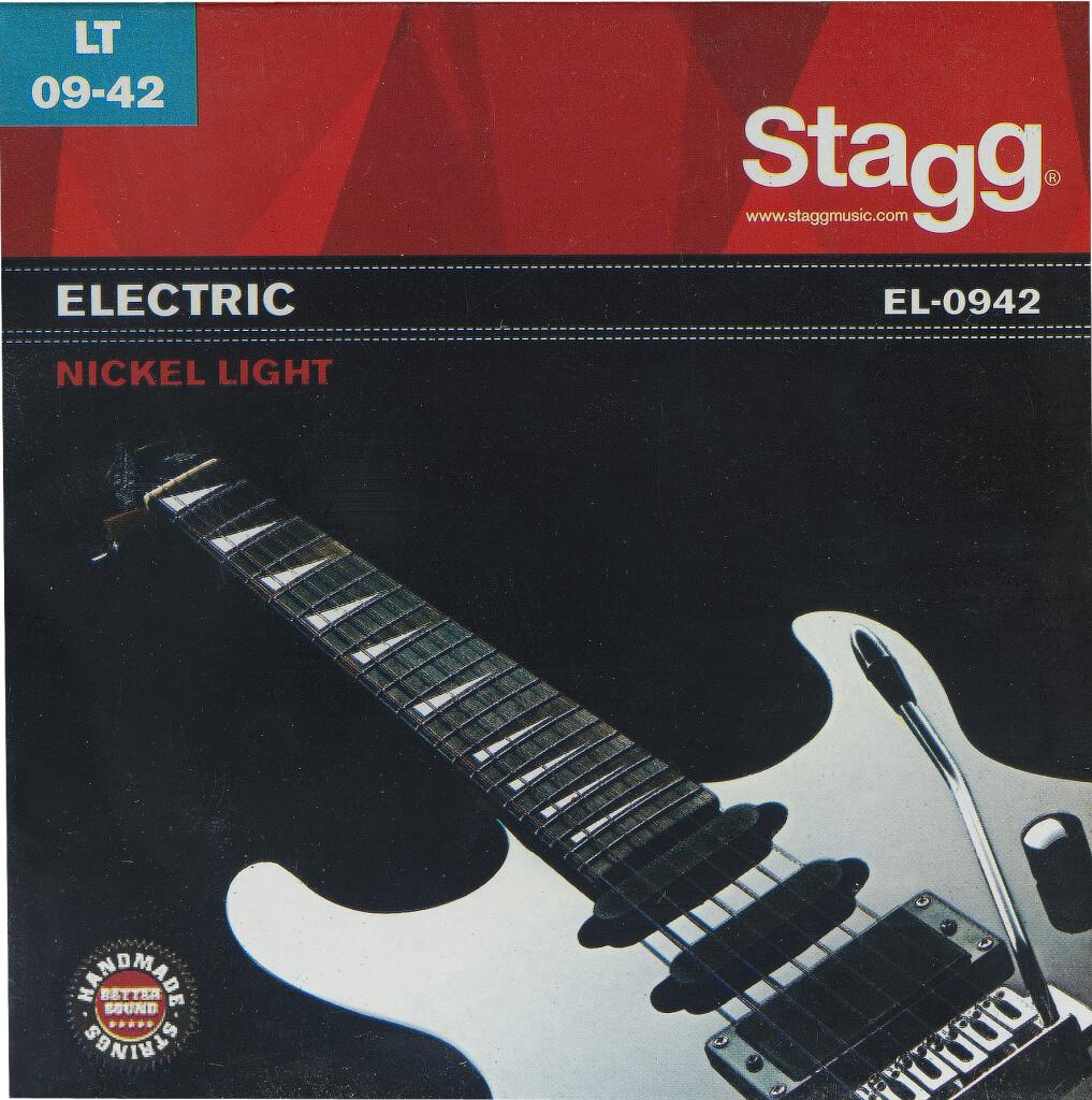 Jeu de cordes en acier nickelé pour guitare électrique