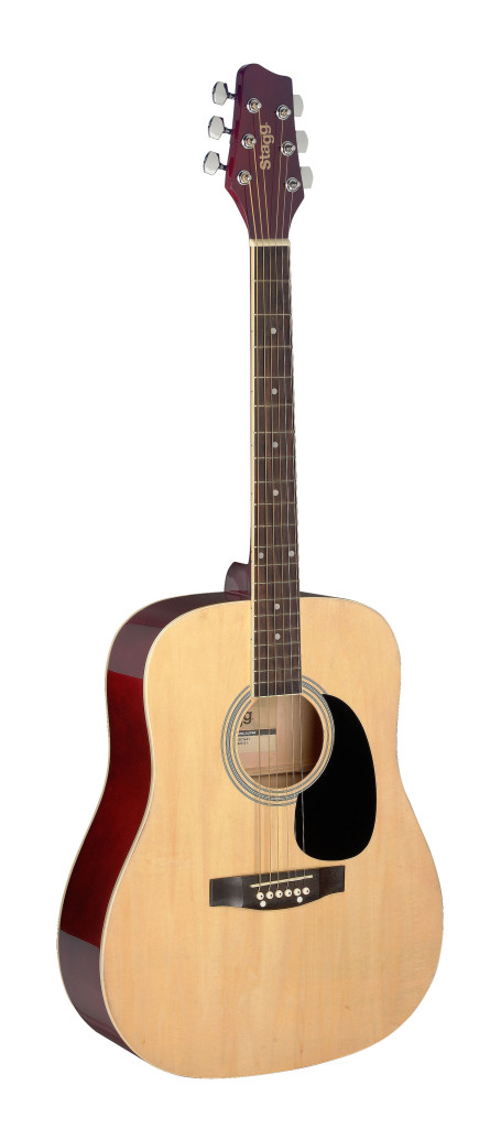 1/2 natural dreadnought acoustic guitar with basswood top