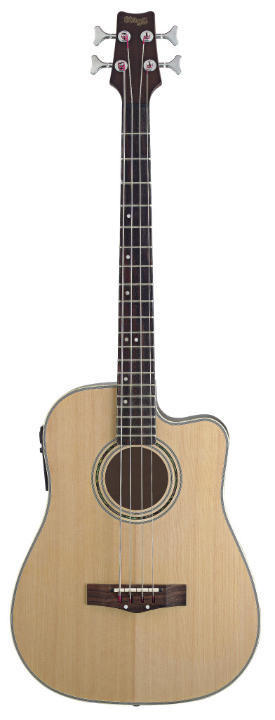 Electro-Acoustic cutaway Bass Guitar with 4-band