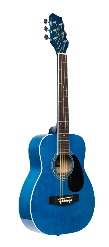 1/2 blue dreadnought acoustic guitar with basswood top