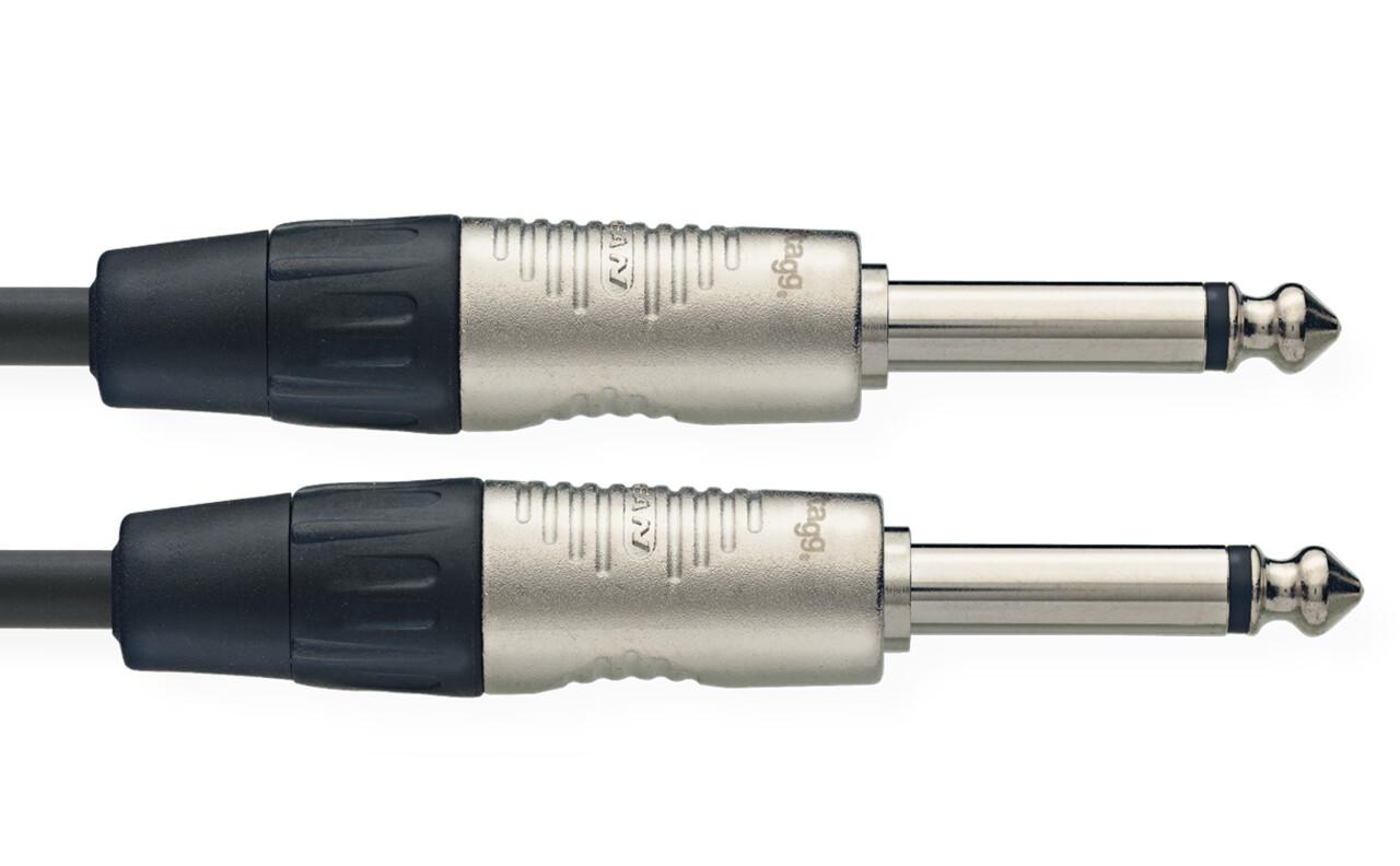 Patch cable, jack/jack (m/m), mono, 90 cm (3')