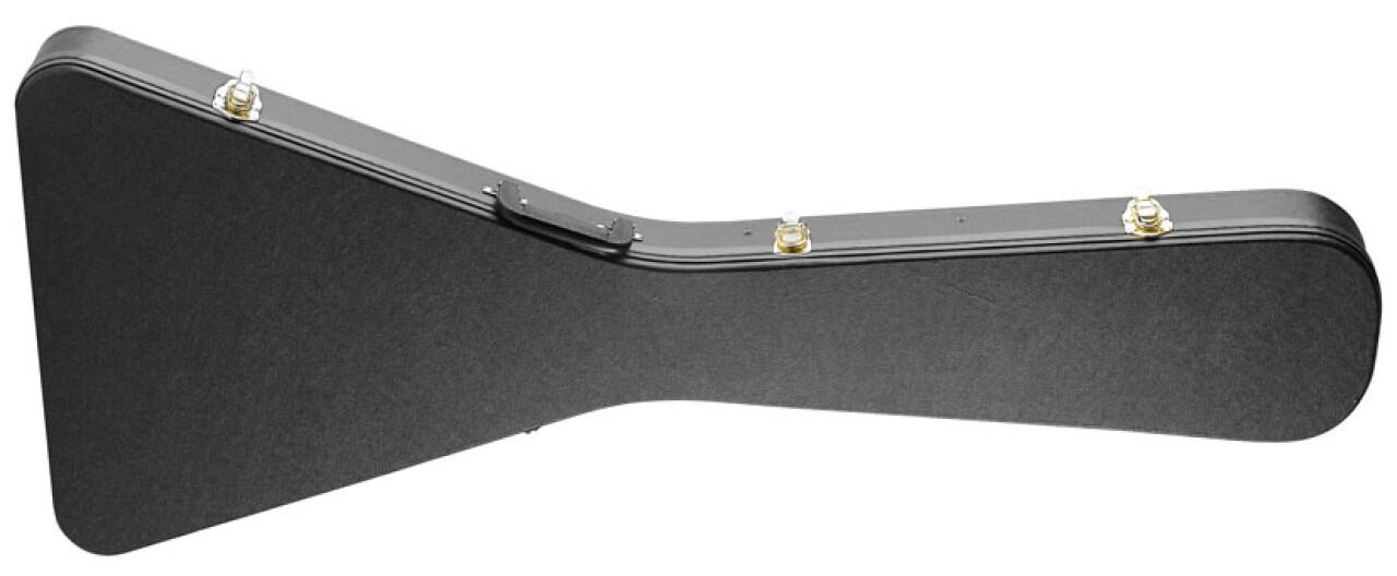 Etui rigide pour guitare électrique de style Flying V, série Basic
