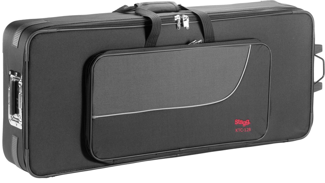 Lightweight soft case for keyboard, with wheels & handle