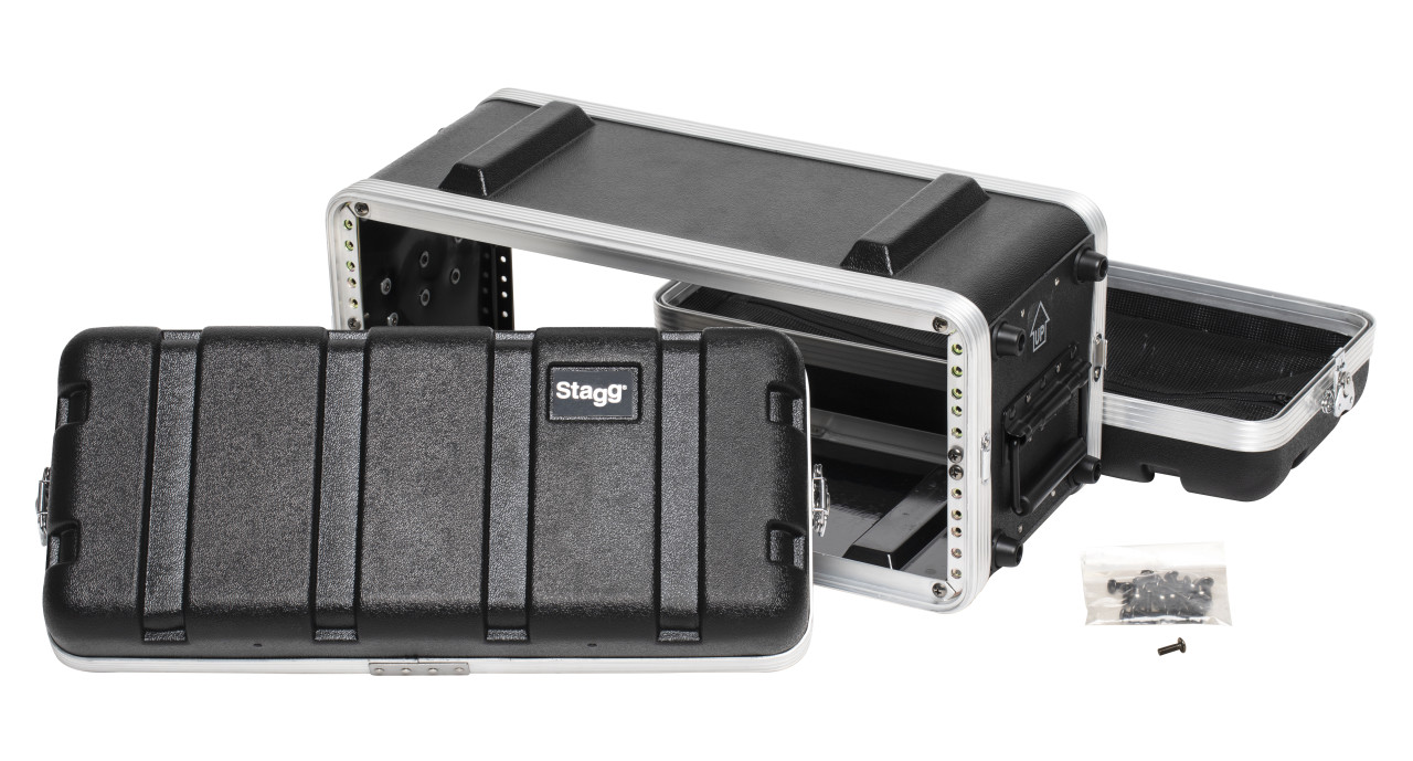 Shallow ABS case for 4-unit rack