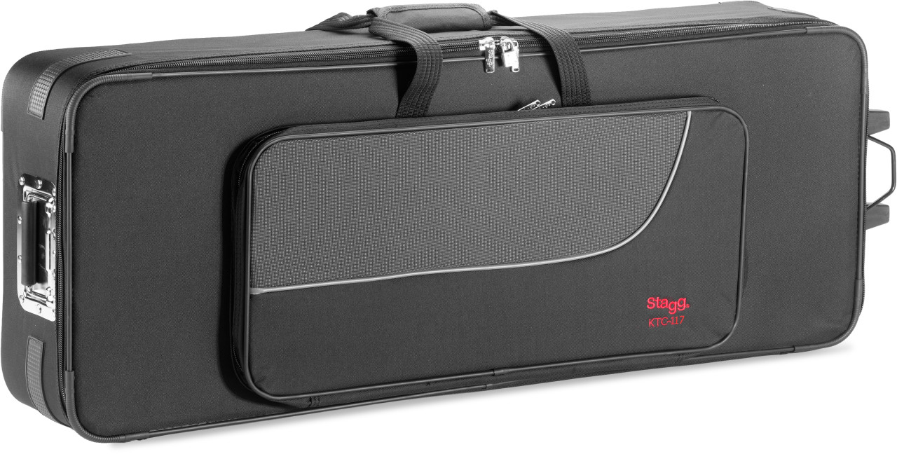 Terylene soft case for keyboard, with wheels and pull out handle