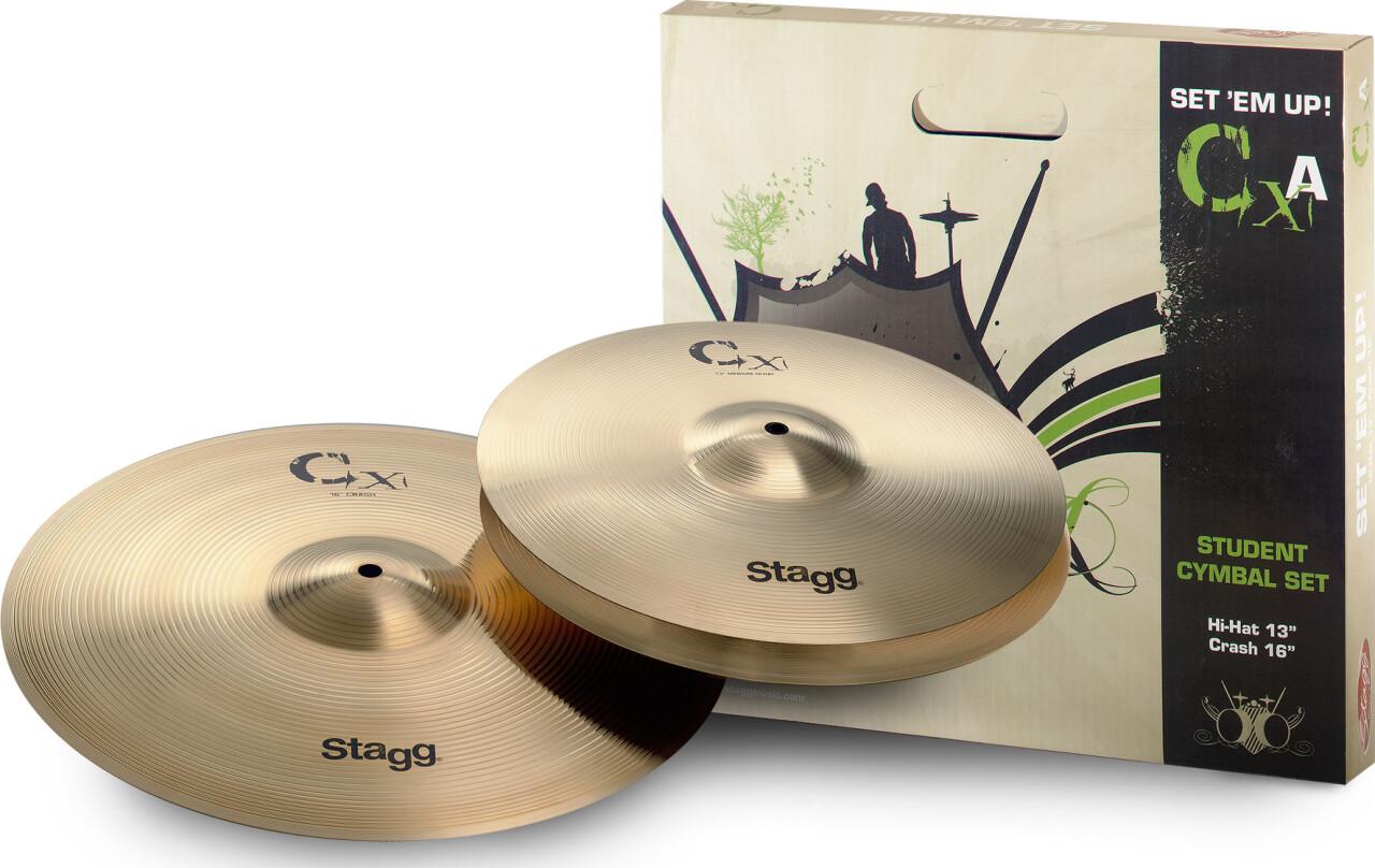 Brass cymbal starter set