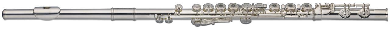 C Dwarsfluit, ringkleppen, in-line G, verzilverd