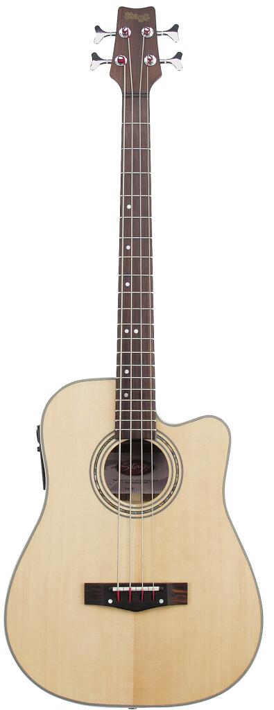 Guitare basse électro-acoustique cutaway