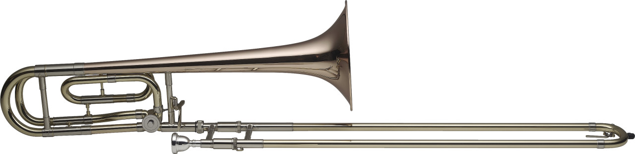 Pro Bb/F Tenor Trombone, Gold brass bell, S-bore