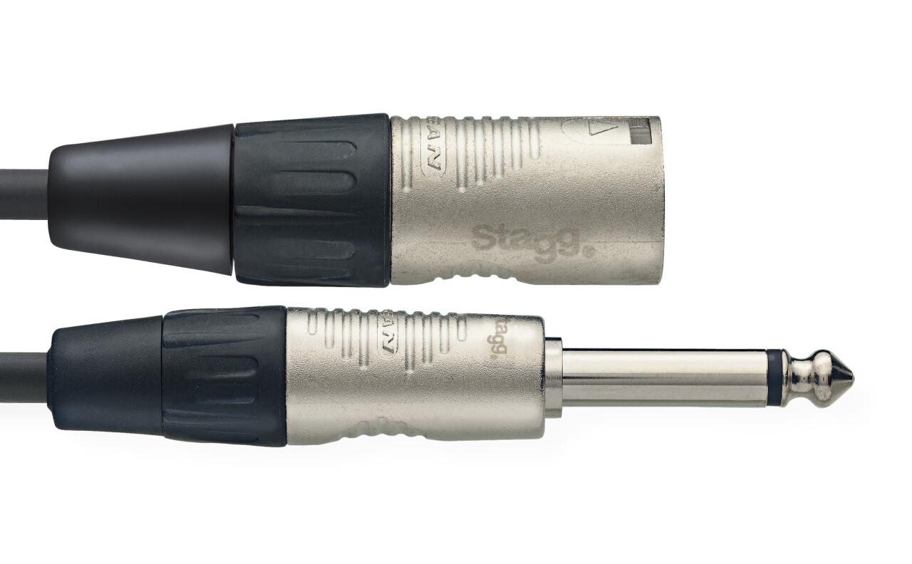 N series audio cable, jack/XLR (m/m), mono, 1 m (3')