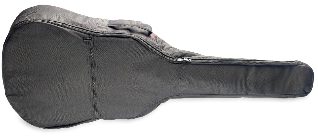 Basic series padded nylon bag for folk, western or dreadnought guitar