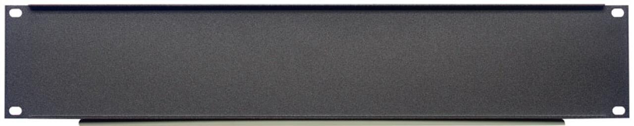 "U-shaped steel panel for 19"" 2-unit rack"