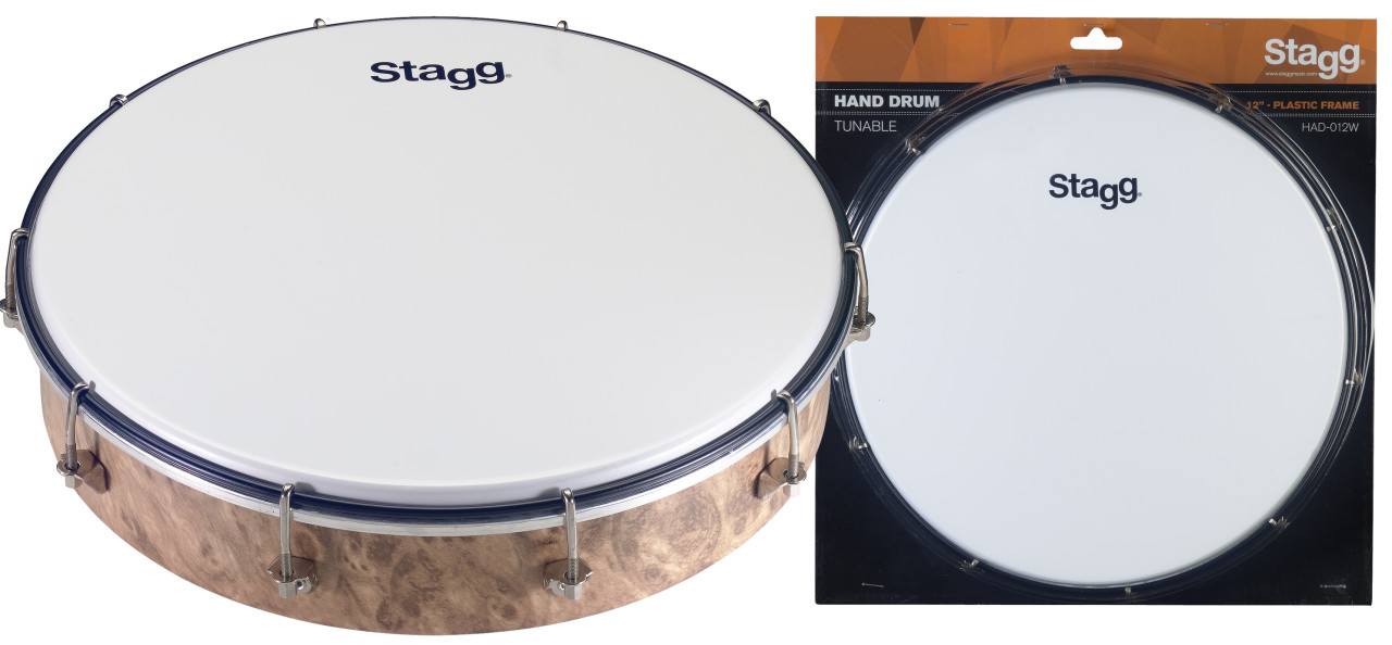 "12"" Tuneable plastic hand-drum"