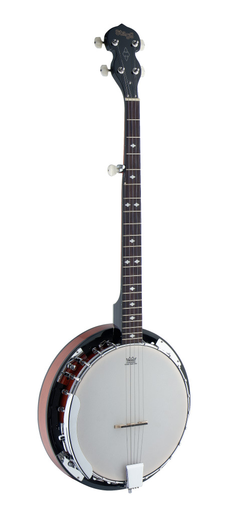 Banjo Western Deluxe 5-cordes avec corps en bois