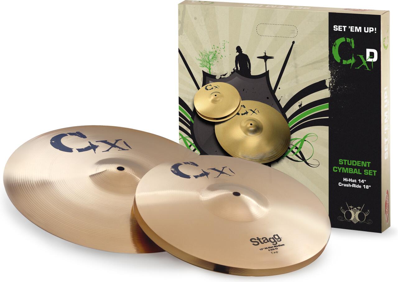 Standard brass cymbal set
