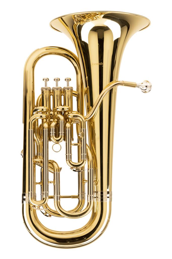 Bes-euphonium, gecompenseerd, met gigbag