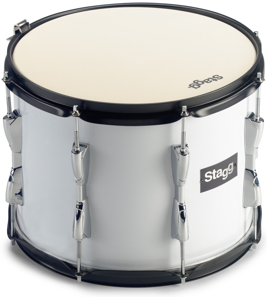 """13 x 10"""" marching tenor drum, white, with strap"""