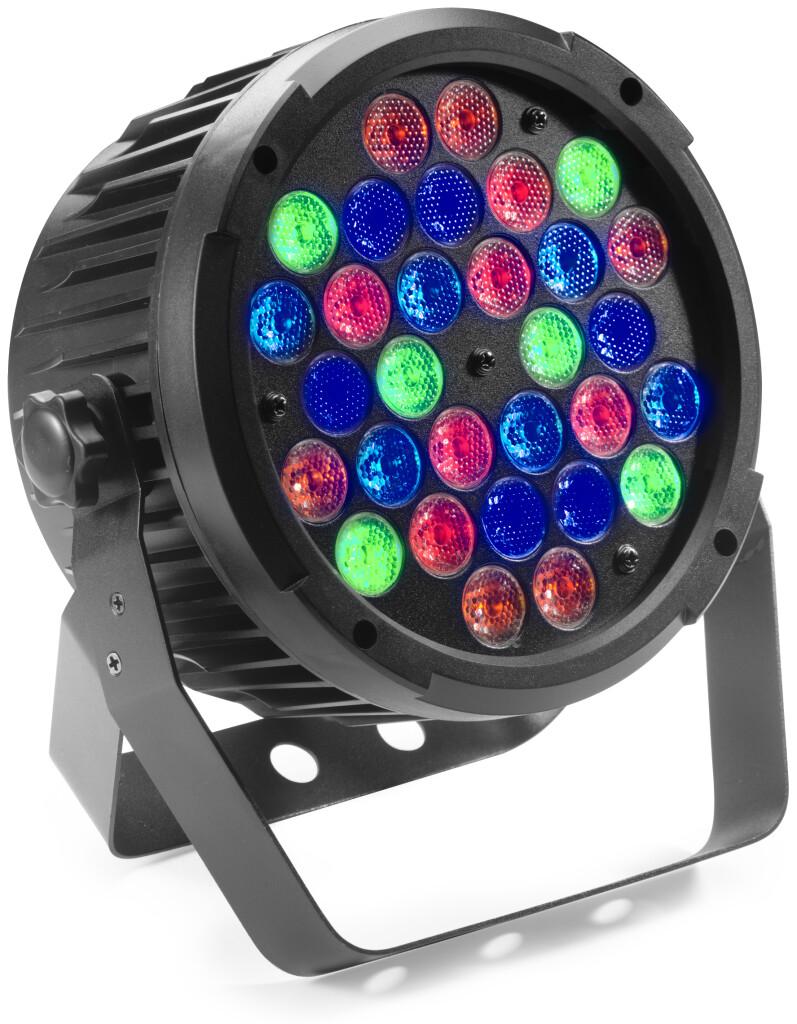 Projecteur King PAR équipé de 30 LED RGBAUV de 2 watts