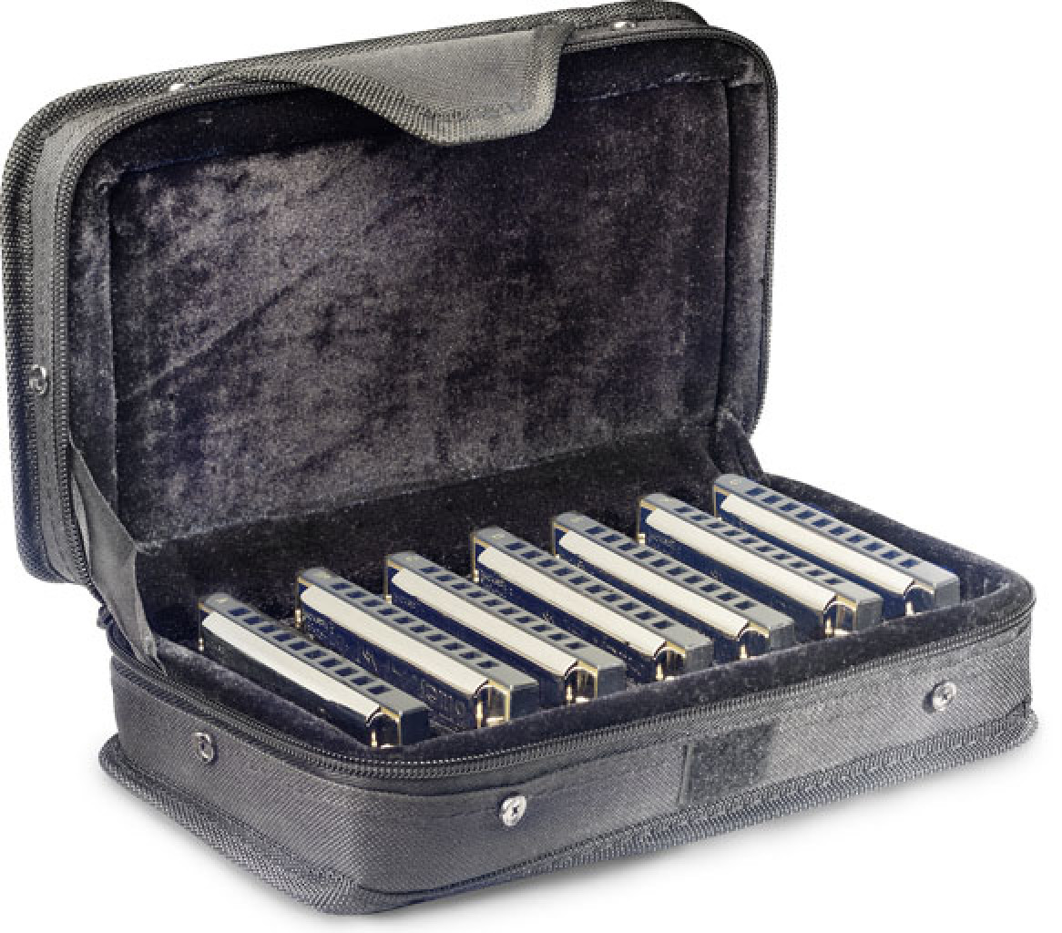 Blues harpsätz mit koffer