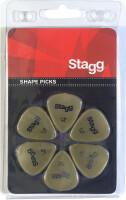 Pack of 6 Stagg 0.46 mm standard plastic picks