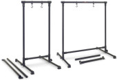 Metal gong stand with 2 interchangeable crossbar tubes for length adjustment