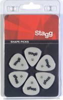 Pack of 6 Stagg 0.6 mm standard plastic picks