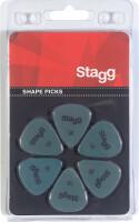 Pack of 6 Stagg 0.88 mm standard plastic picks