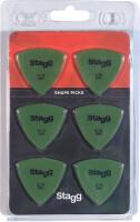 Pack of 6 Stagg 0.73 mm triangular plastic picks