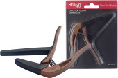 Flat trigger capo for classical guitar