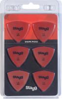 Pack of 6 Stagg 1 mm triangular plastic picks