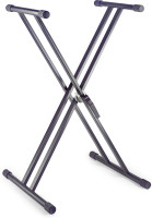 Steel, double X-shaped keyboard stand