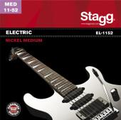 Nickel plated steel set of strings for electric guitar