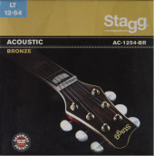 Bronze set of strings for acoustic guitar